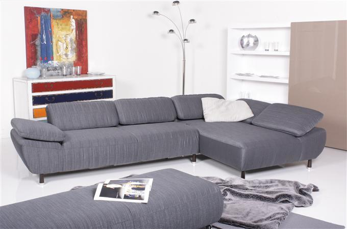 willi schillig modell 17250 clyde ecksofa stoff grau ebay. Black Bedroom Furniture Sets. Home Design Ideas