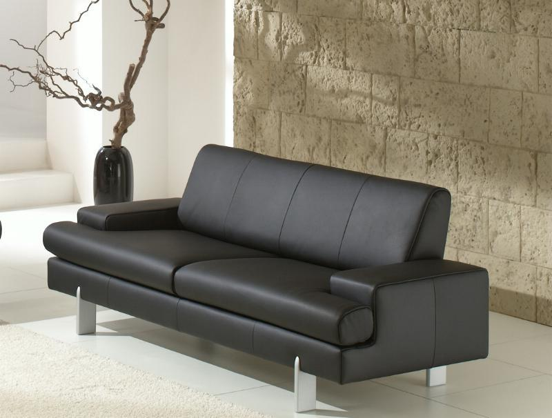 ak 644 3er sofa aus dem hause rolf benz dickleder ebay. Black Bedroom Furniture Sets. Home Design Ideas