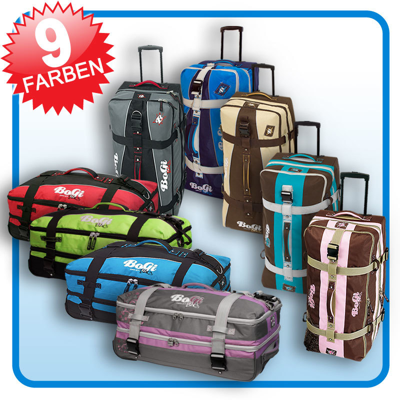 bogi bag trolley reisetasche koffer 110l 7 farben xxl ebay. Black Bedroom Furniture Sets. Home Design Ideas