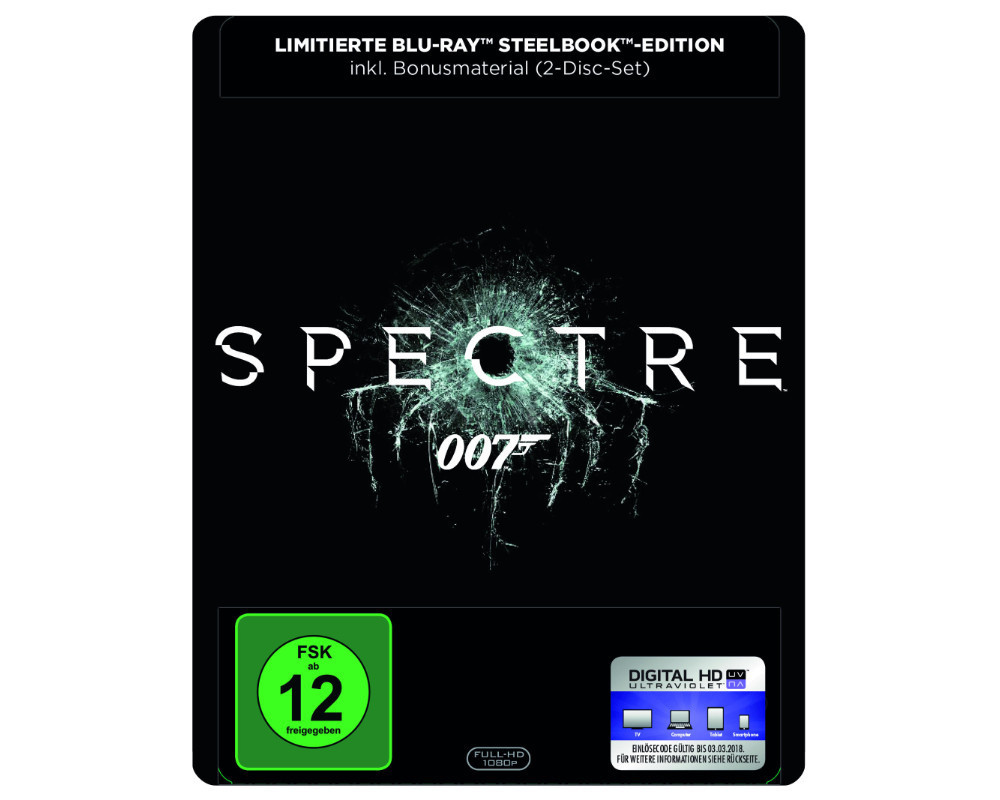 james bond spectre limitierte blu ray steelbook edition neu ovp ebay. Black Bedroom Furniture Sets. Home Design Ideas