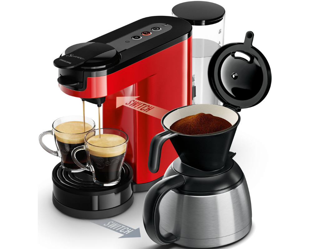 philips senseo hd 7892 80 switch thermo pad filter kaffeemaschine rot ebay. Black Bedroom Furniture Sets. Home Design Ideas