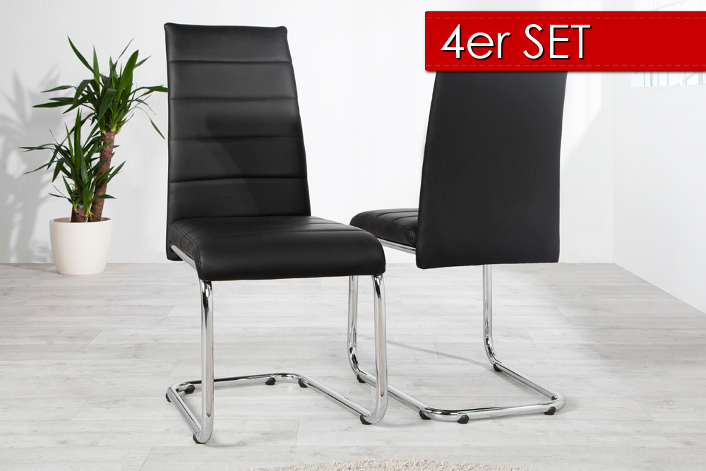design freischwinger derby stuhl esszimmerstuhl polsterstuhl st hle esszimmer ebay. Black Bedroom Furniture Sets. Home Design Ideas