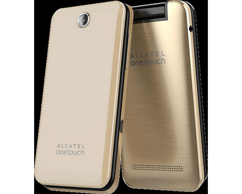 alcatel one touch klapp handy 2 8 zoll bluetooth gold ebay. Black Bedroom Furniture Sets. Home Design Ideas