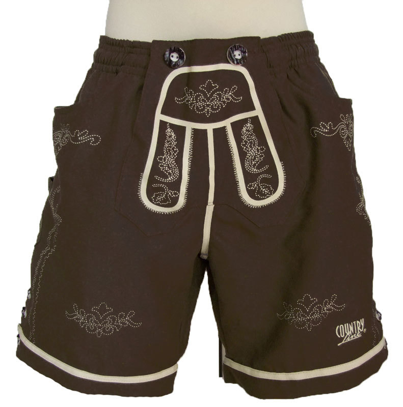 badehose im lederhosen look kinder jungen braun trachten. Black Bedroom Furniture Sets. Home Design Ideas
