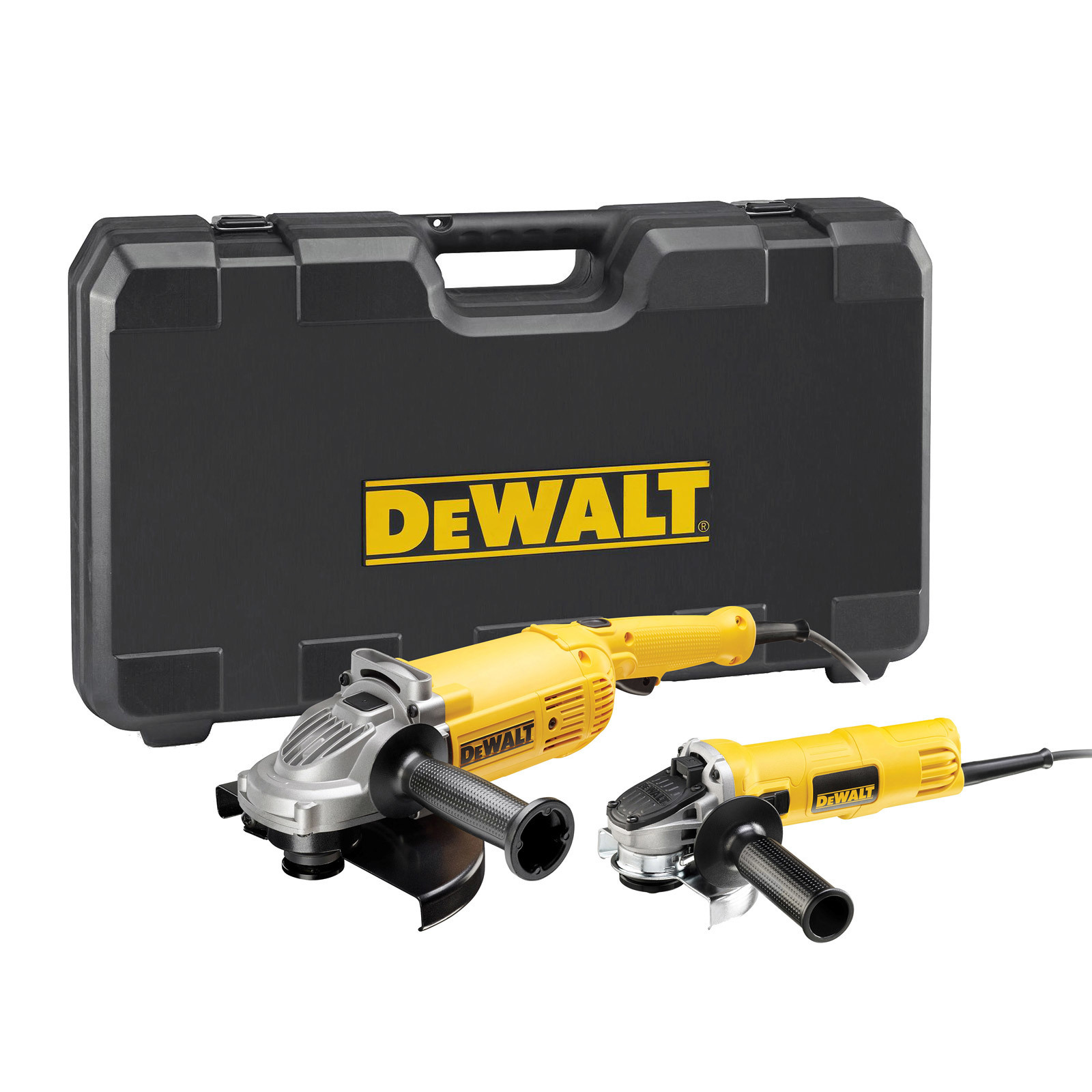 dewalt dwe494twin winkelschleifer doppel set 230 mm 2200 w 125 mm 900 w ebay. Black Bedroom Furniture Sets. Home Design Ideas
