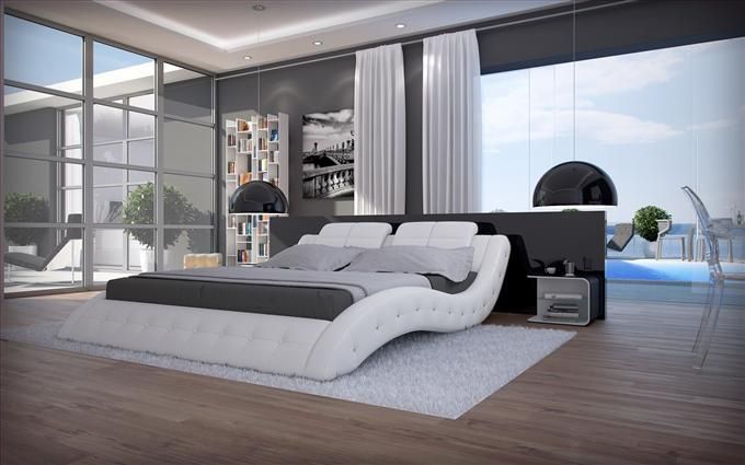 luxus bett polsterbett mood wei 180 x 200 cm. Black Bedroom Furniture Sets. Home Design Ideas