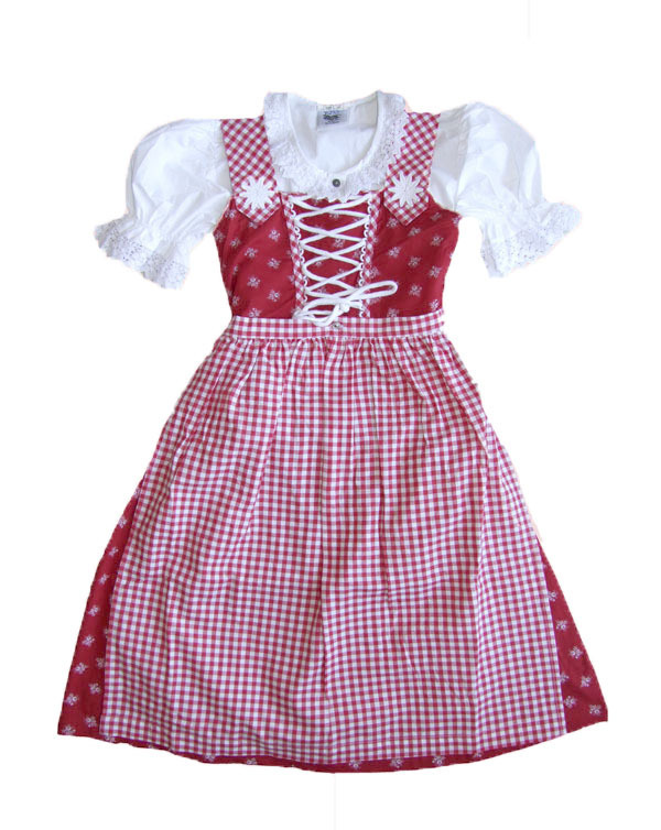 trachten dirndl heidi rot weiss von isar trachten kleid 3. Black Bedroom Furniture Sets. Home Design Ideas