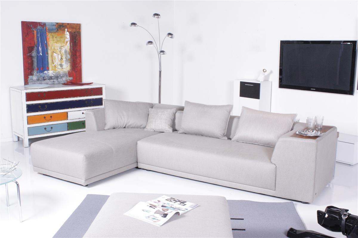 rolf benz sofa cosmo 515 ecksofa recamiere links stoff beigegrau ebay. Black Bedroom Furniture Sets. Home Design Ideas