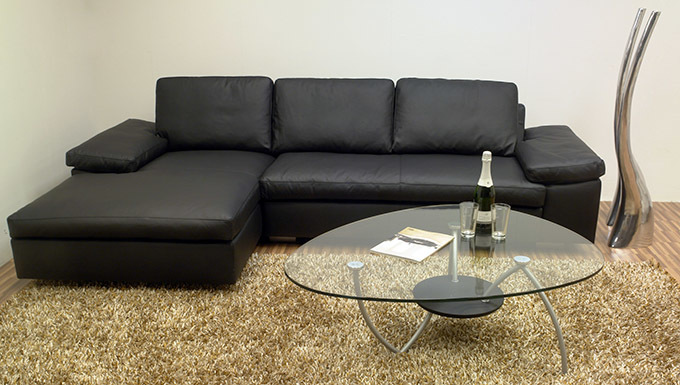 Machalke ecksofa carrera leder schwarz recamiere links ebay for Wohndesign carrera