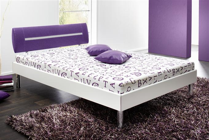 Kasper wohndesign bett sunrise 140 x 200 cm wei lila ebay for Wohndesign outlet