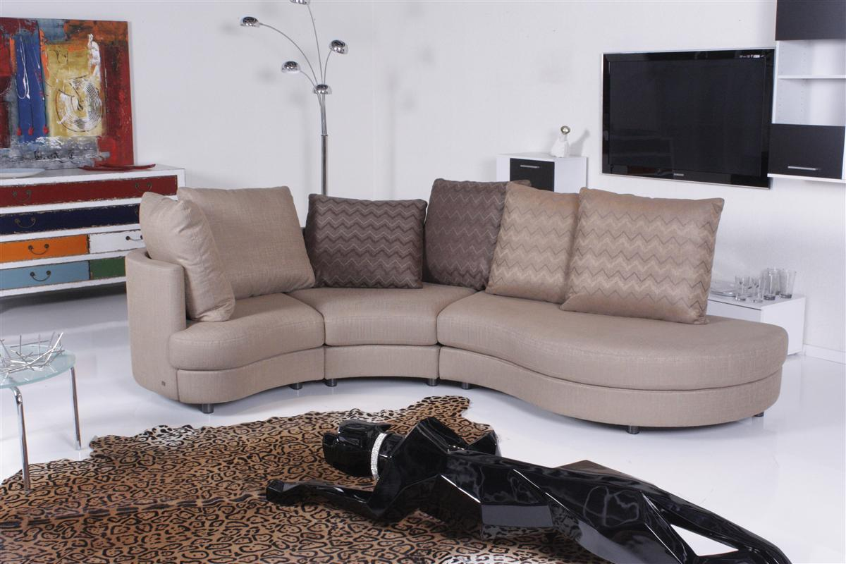 rolf benz sofa 4500 stoff hellbraun ebay. Black Bedroom Furniture Sets. Home Design Ideas