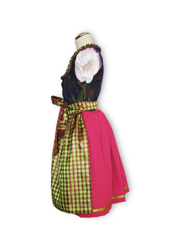 isar trachten jugend dirndl cornelia 2 tlg gr n fuchsia. Black Bedroom Furniture Sets. Home Design Ideas