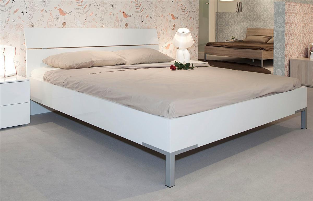 composad bett letto hochglanz wei 140x200cm ebay. Black Bedroom Furniture Sets. Home Design Ideas