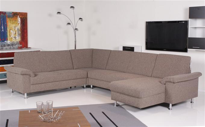 ewald schillig selectionplus ecksofa stoff sand ebay. Black Bedroom Furniture Sets. Home Design Ideas