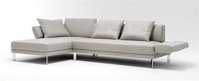 rolf benz sofa 344 sento ecksofa stoff hellgrau recamiere links ebay. Black Bedroom Furniture Sets. Home Design Ideas