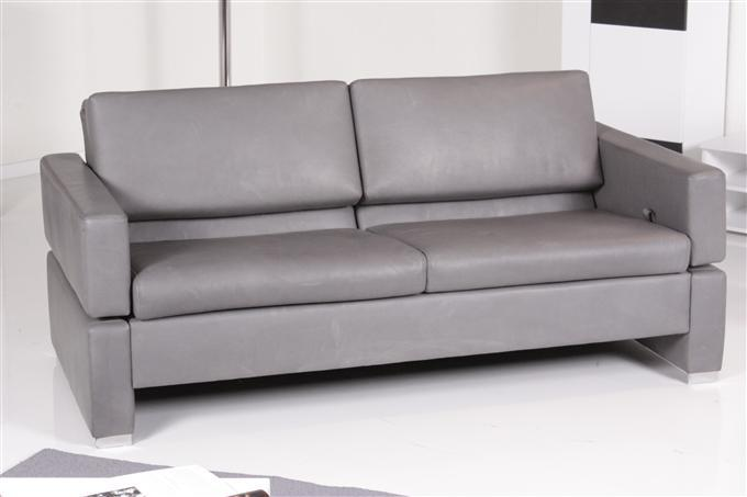 br hl tomo 2er sofa pearl leder grau ebay. Black Bedroom Furniture Sets. Home Design Ideas