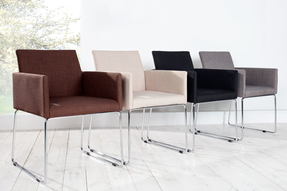 Eleganter design stuhl livorno polsterstuhl st hle for Design stuhl range