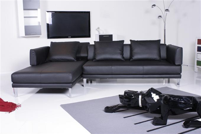rolf benz mod 344 sento ecksofa leder schwarz ebay. Black Bedroom Furniture Sets. Home Design Ideas