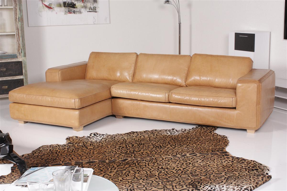 machalke sofa gordon leder braun ebay. Black Bedroom Furniture Sets. Home Design Ideas