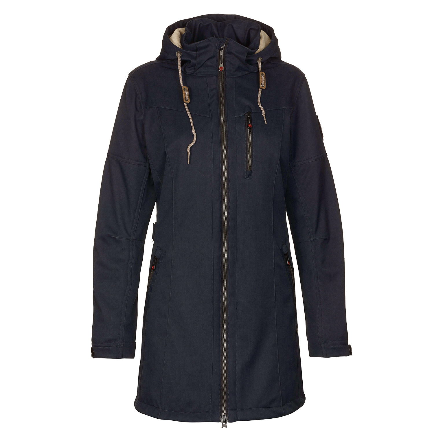 mantel parka jacke gr 50 navy casual jacke damen soft shell matava ebay. Black Bedroom Furniture Sets. Home Design Ideas