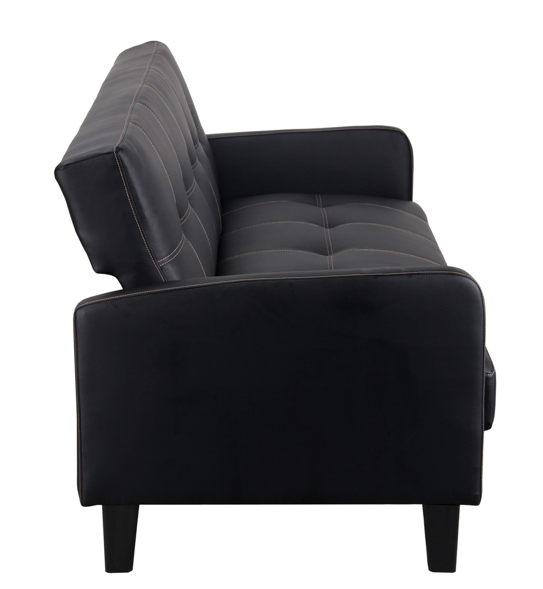 schlafsofa relax maredo kunstleder schwarz ebay. Black Bedroom Furniture Sets. Home Design Ideas