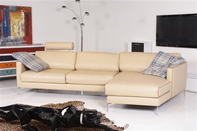 machalke durini ecksofa leder nappa seta sand ebay. Black Bedroom Furniture Sets. Home Design Ideas