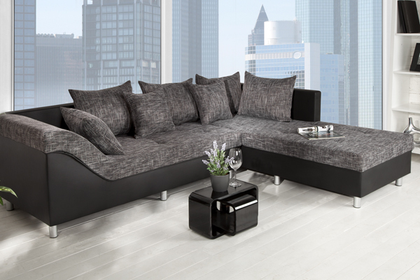 design ecksofa sultan strukturstoff farbwahl gro es sofa. Black Bedroom Furniture Sets. Home Design Ideas