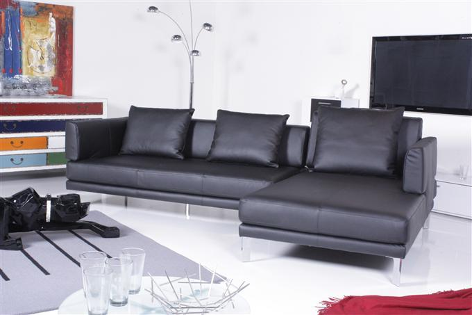 rolf benz sofa 344 sento ecksofa leder schwarz recamiere rechts ebay. Black Bedroom Furniture Sets. Home Design Ideas