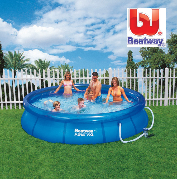 bestway swimmingpool 366x76 schwimmbad schwimmbecken quickup pool pumpe ebay. Black Bedroom Furniture Sets. Home Design Ideas