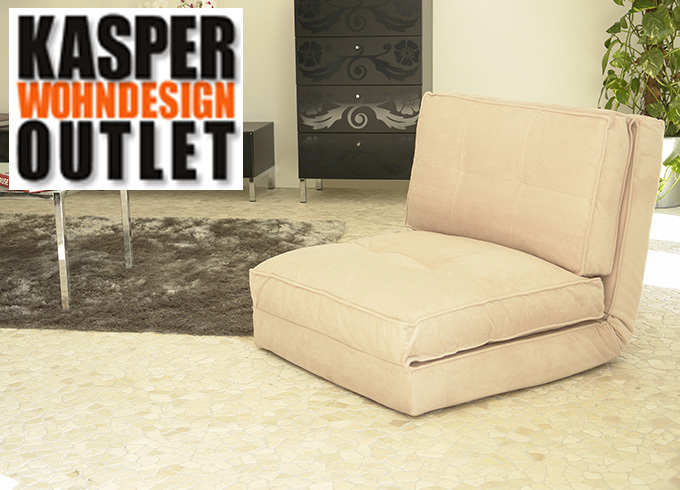 Schlafsessel schlafsofa yoga mikrofaser beige chf 172 for Schlafsofa outlet