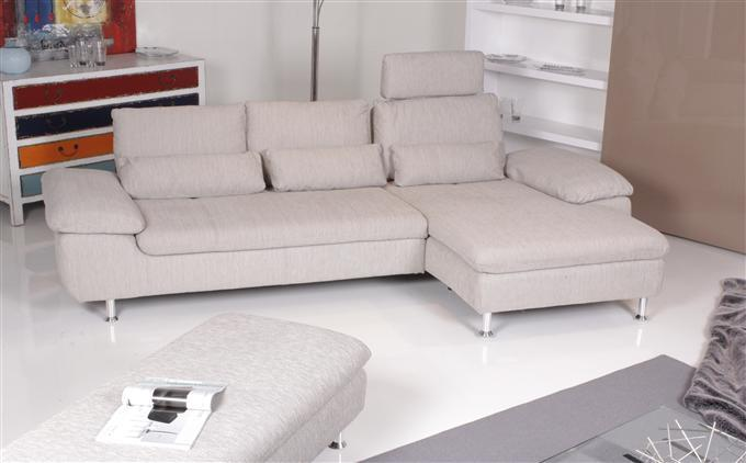 ewald schillig zoom ecksofa inkl hocker stoff grau pearl ebay. Black Bedroom Furniture Sets. Home Design Ideas