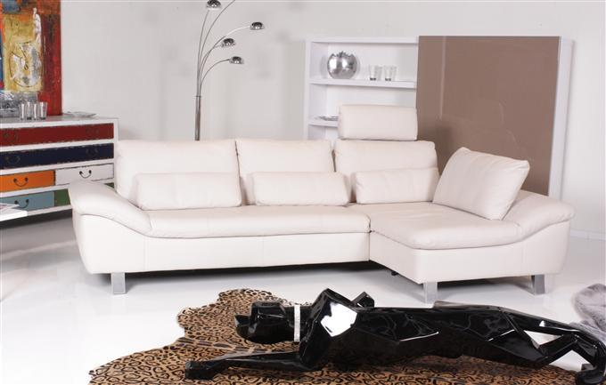 ewald schillig dragon ecksofa leder creme braun. Black Bedroom Furniture Sets. Home Design Ideas