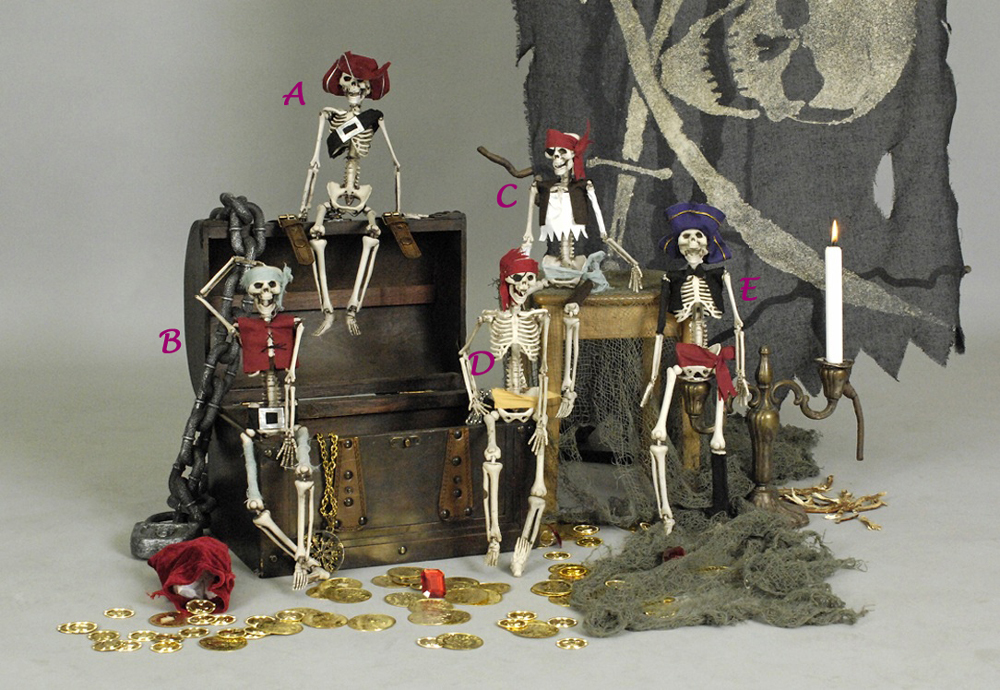 piratenskelett deko ausgefallene halloween dekoration piraten skelett totenkopf ebay. Black Bedroom Furniture Sets. Home Design Ideas
