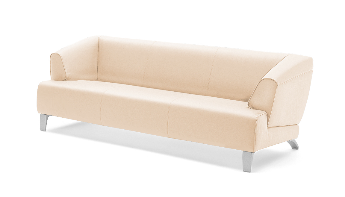 rolf benz sofa 2300 leder creme 195 cm ebay. Black Bedroom Furniture Sets. Home Design Ideas