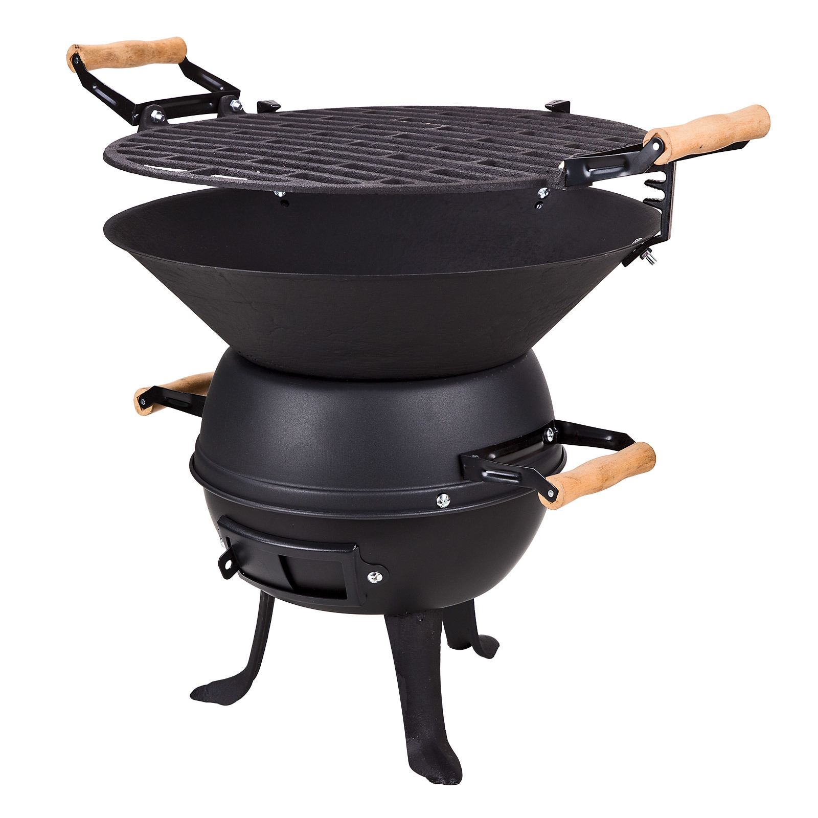 grillfass grill holzkohlegrill barbecue bbq grillrost 35cm new orleans ebay. Black Bedroom Furniture Sets. Home Design Ideas