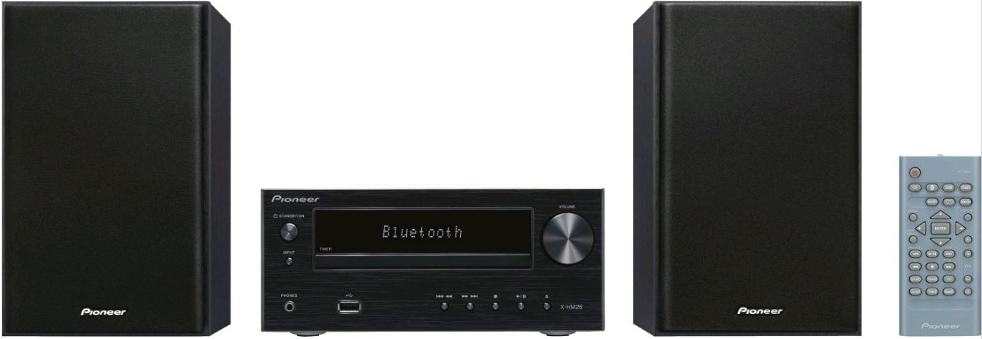 pioneer x hm26 cd receiver radio ukw bluetooth aux usb boxen anlage. Black Bedroom Furniture Sets. Home Design Ideas