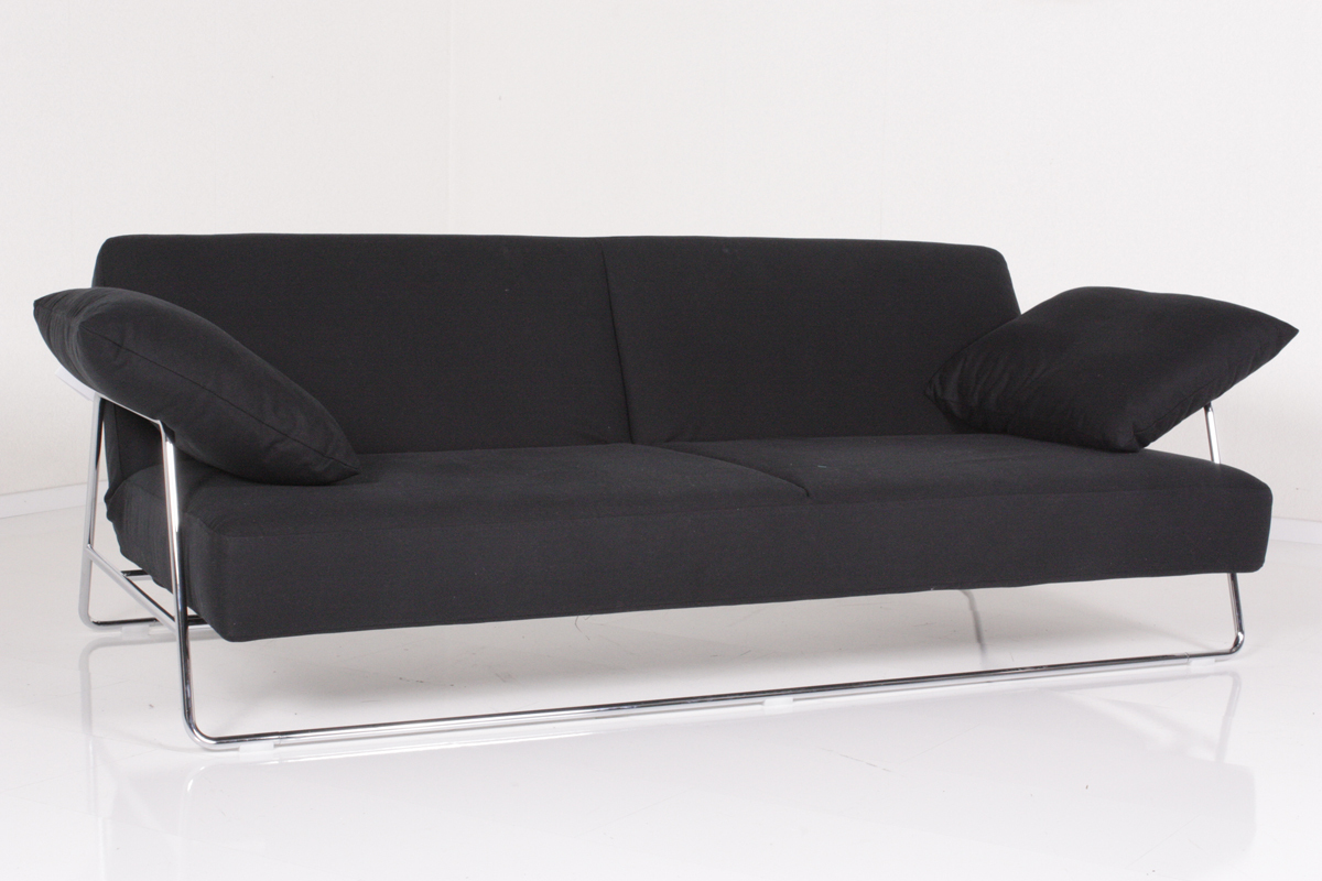 br hl sofa square schlafsofa stoffsofa schwarz ebay. Black Bedroom Furniture Sets. Home Design Ideas
