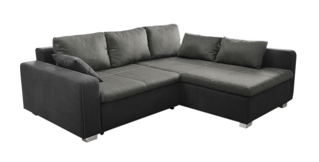 kawola ecksofa vito mit bettfunktion schlafsofa bettsofa stoff schwarz ebay. Black Bedroom Furniture Sets. Home Design Ideas