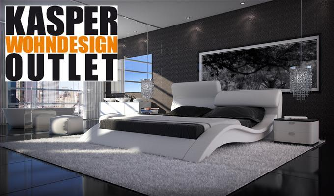 kasper wohndesign allure luxusbett 180 x 200 cm wei ebay. Black Bedroom Furniture Sets. Home Design Ideas