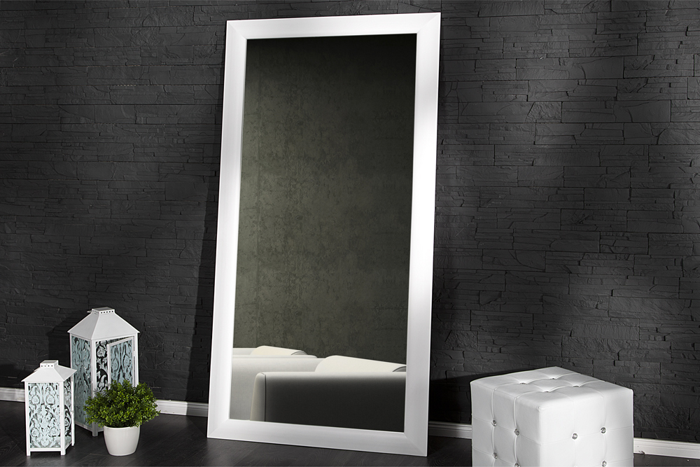 gro er design spiegel espejo weiss matt 190cm wandspiegel. Black Bedroom Furniture Sets. Home Design Ideas