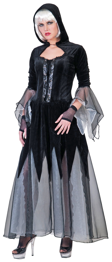 queen of darkness kost m gothic halloween vampir kost m kleid damen gr 44 46 ebay. Black Bedroom Furniture Sets. Home Design Ideas