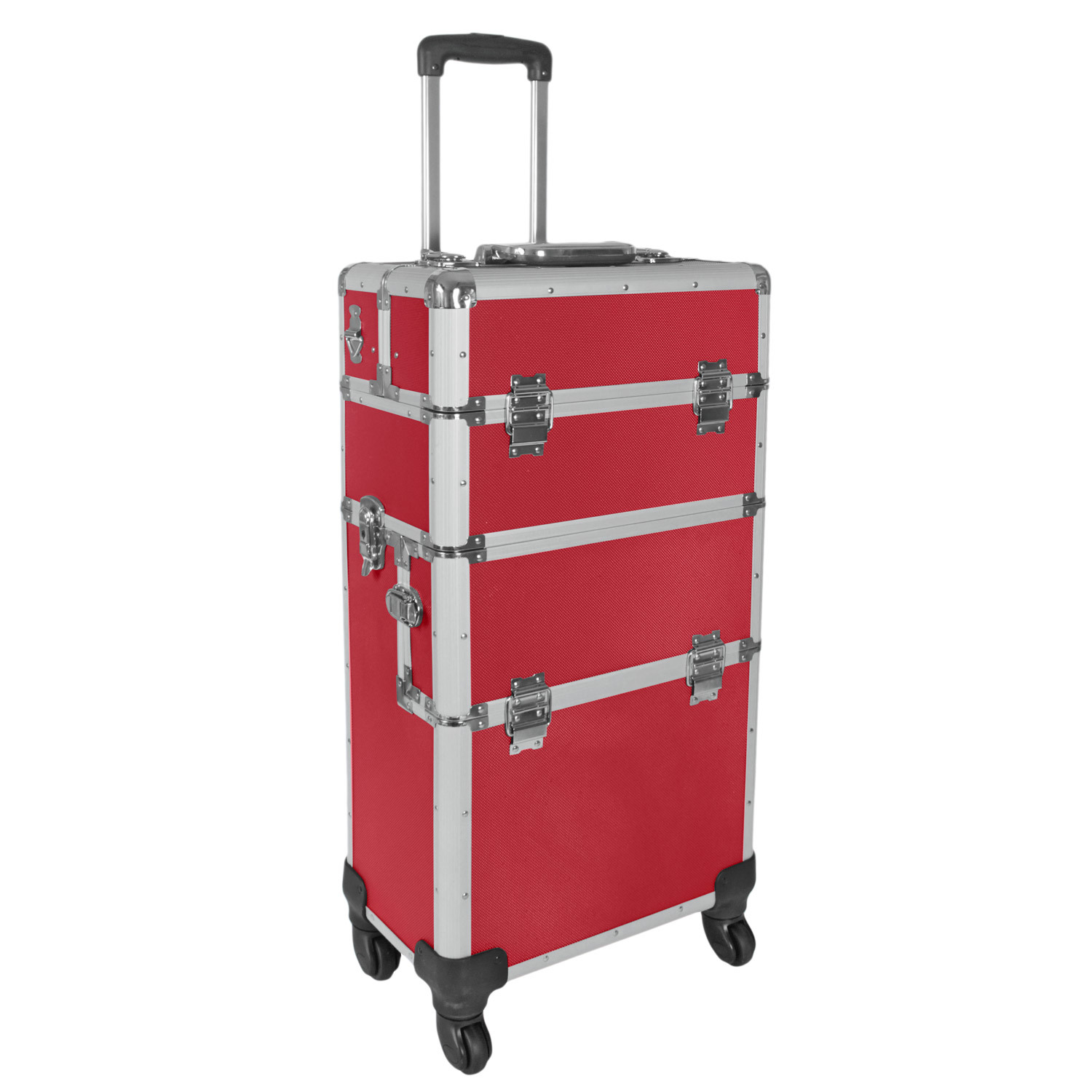 champ aluminium trolley pilotenkoffer friseurkoffer rot pr sentationstrolley ebay. Black Bedroom Furniture Sets. Home Design Ideas