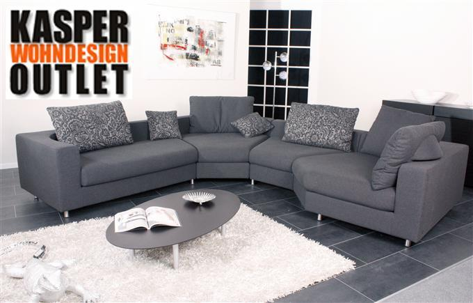rolf benz 546 ecksofa elementsofa in stoff dunkelgrau ebay. Black Bedroom Furniture Sets. Home Design Ideas