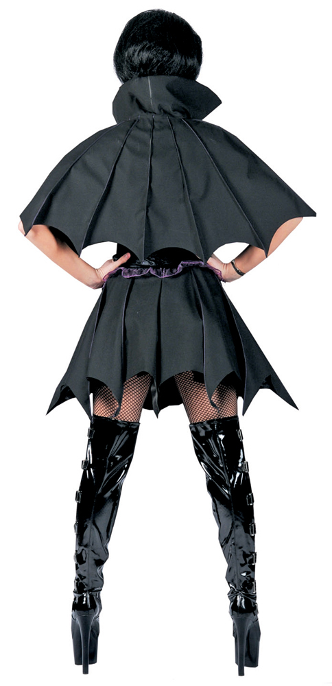 batwoman kost m batgirl fledermaus damen vampir halloween karneval party kleid ebay. Black Bedroom Furniture Sets. Home Design Ideas