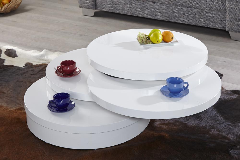 runder couchtisch multi puk xl 3 drehplatten hochglanz. Black Bedroom Furniture Sets. Home Design Ideas