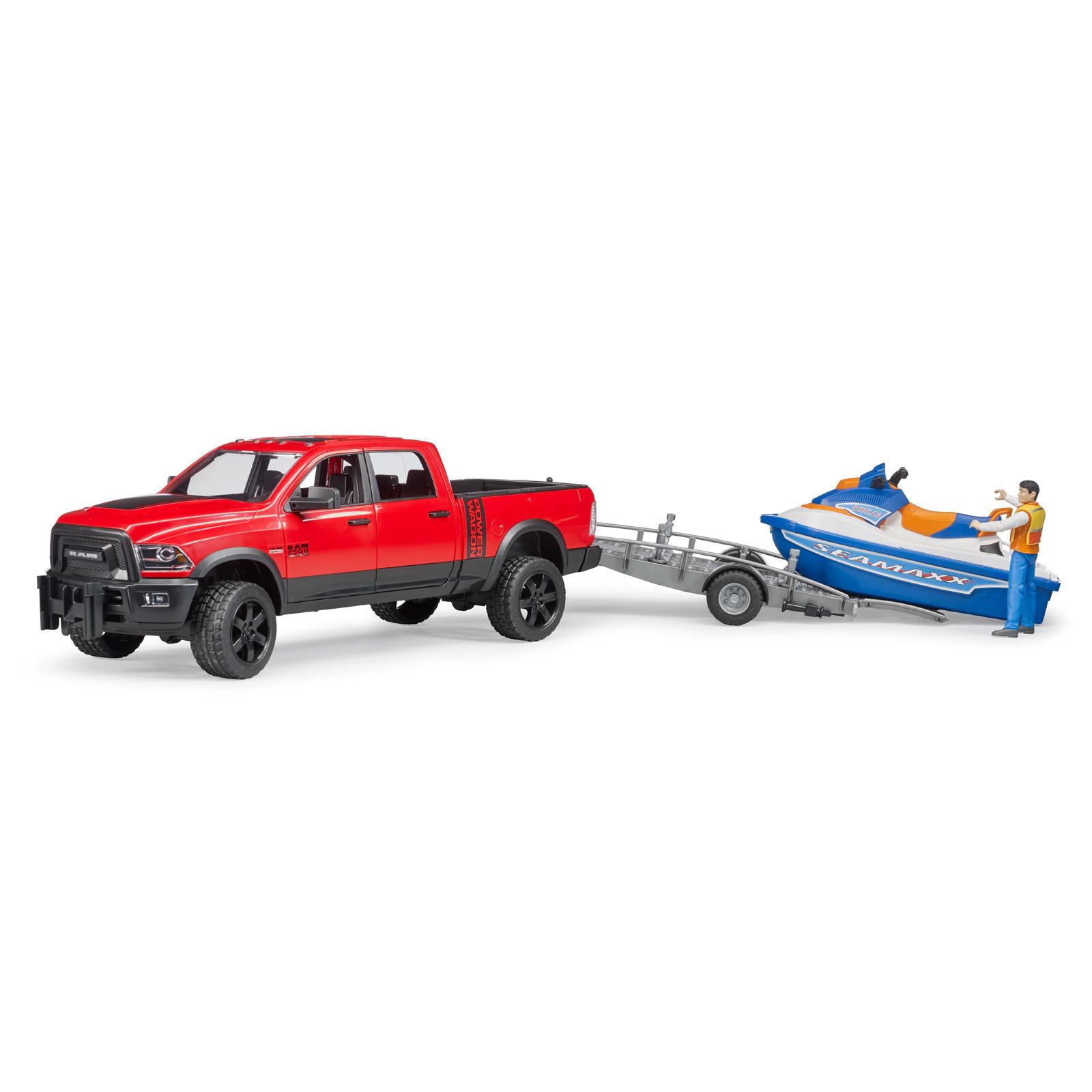 Autos Bruder 02503 Ram 2500 Power Wagon mit Anhänger Spielzeug Auto NEU