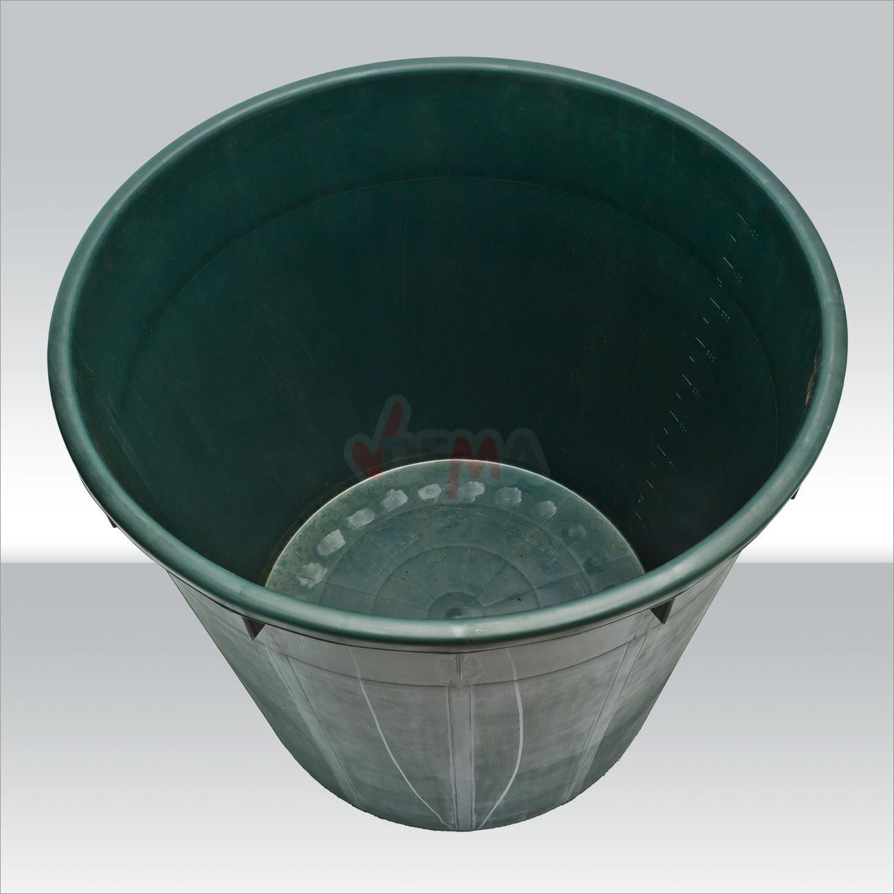 regentonne regenfass wasserfass regenwasser wassertank rund 500 liter mit deckel ebay. Black Bedroom Furniture Sets. Home Design Ideas
