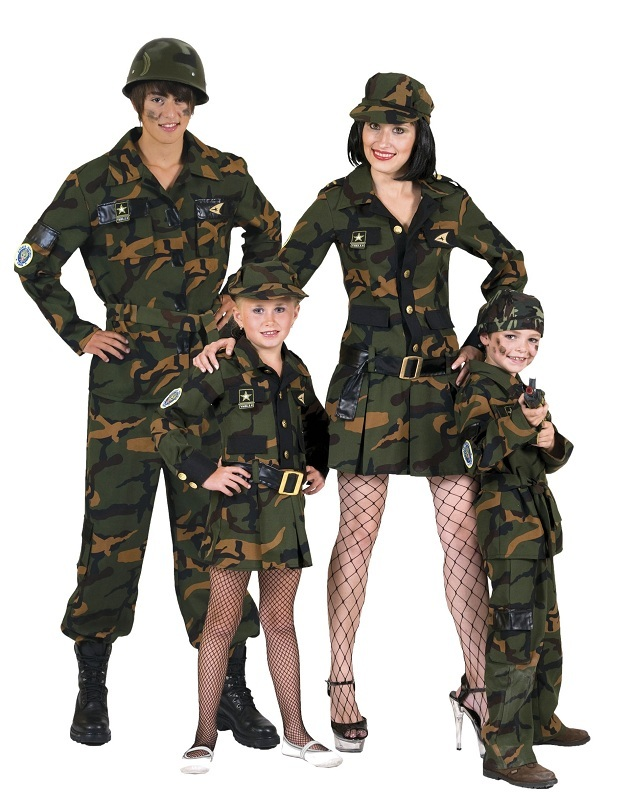 armee soldatin kost m f r damen camouflage kleid f r theater party karneval ebay. Black Bedroom Furniture Sets. Home Design Ideas