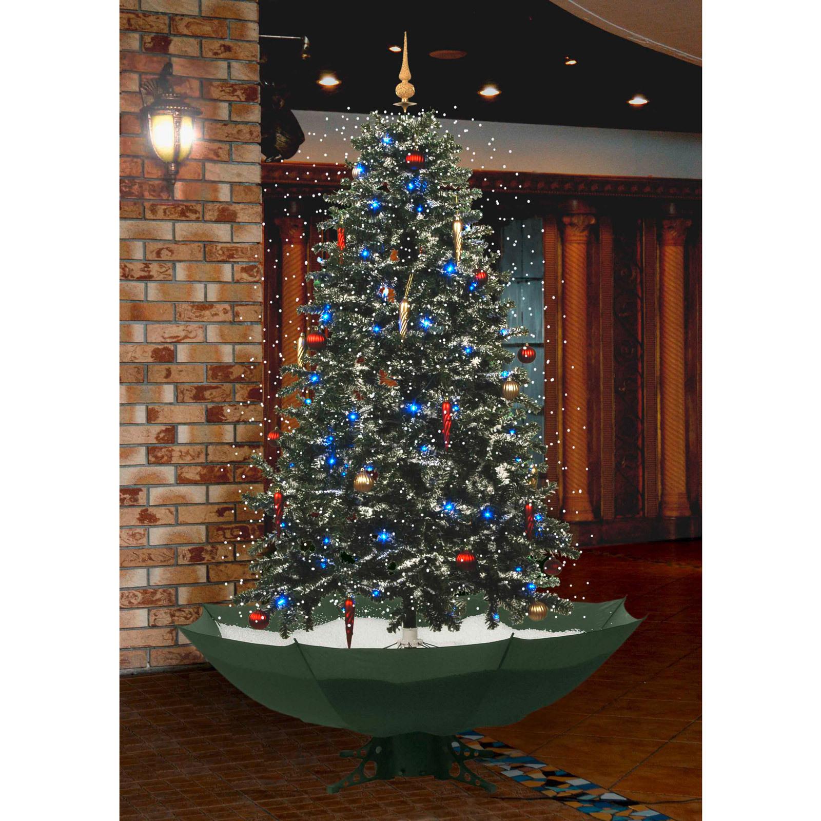 weihnachtsbaum tannenbaum 175 cm mit schnee licht und. Black Bedroom Furniture Sets. Home Design Ideas