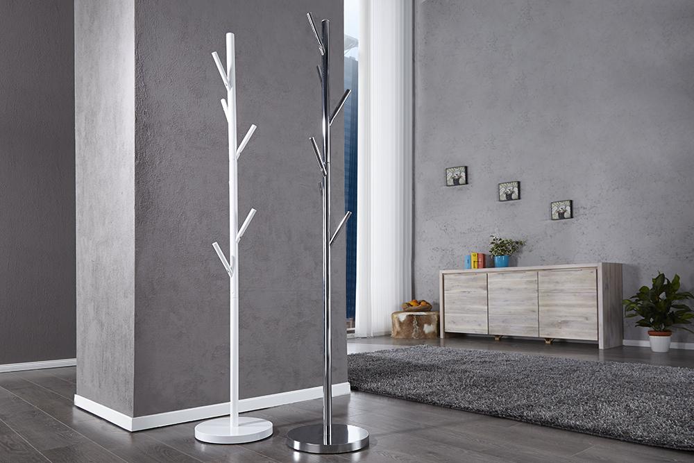 garderobenst nder tree weiss garderobe kleiderhaken. Black Bedroom Furniture Sets. Home Design Ideas